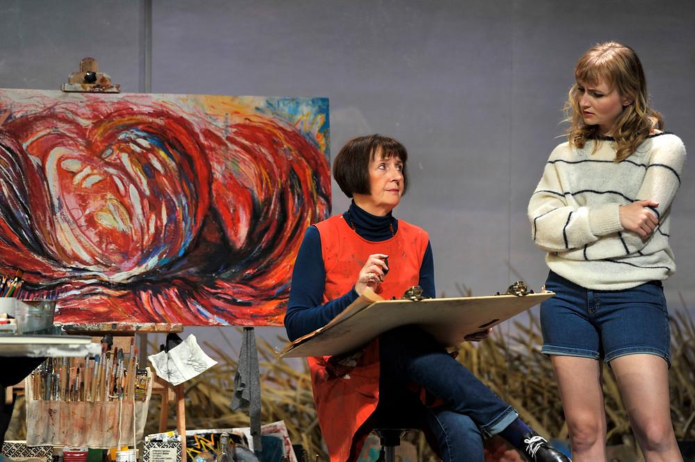Jane Brennan, Rae Gray. Druid and Gate Theatre. The Beacon. Photo credit, Robbie Jack