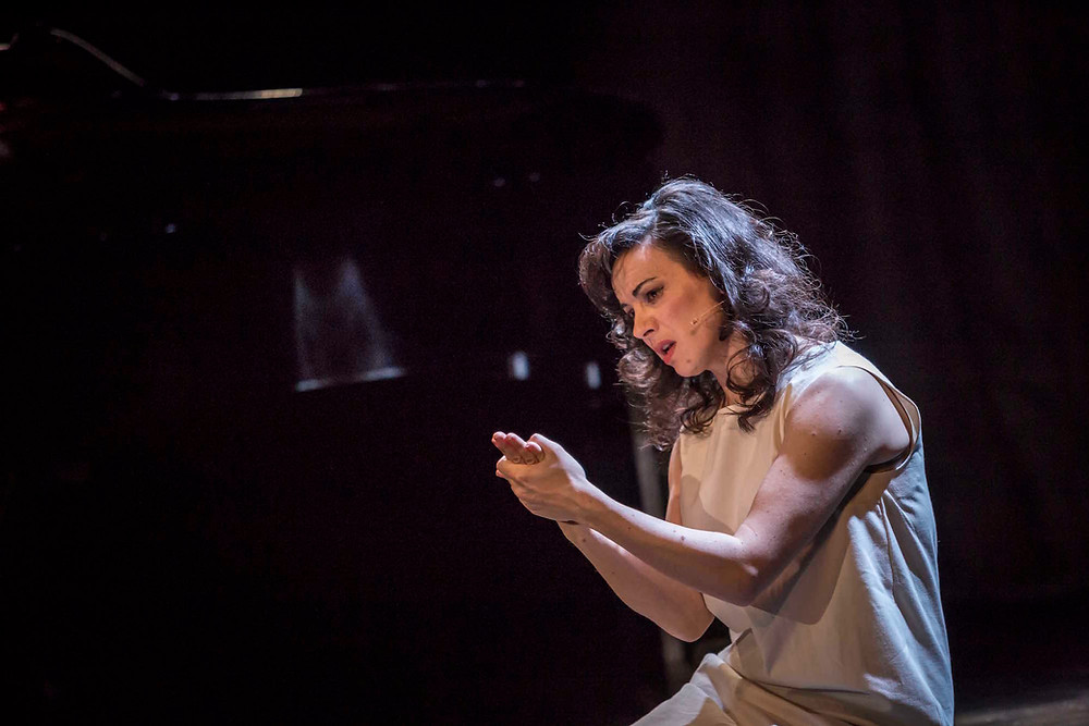 Camille O'Sullivan in Shakespeare's Rape of Lucrece at Dublin's Gate Theatre. Photo Credit: Ste Murray