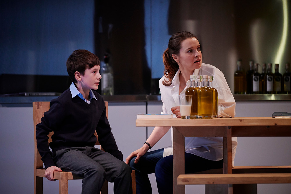 L-R) Daniel (James Lonergan) & Hazel (Catherine Walker). Image by Ros Kavanagh.