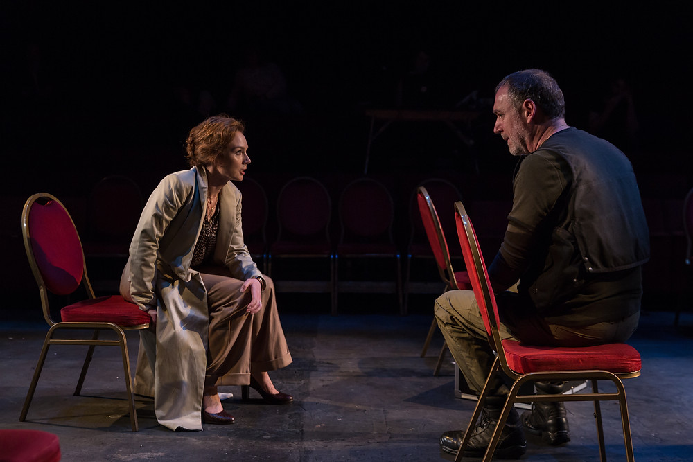 Aislín McGuckin and Brian Doherty in Hecuba. Images by Ste Murray.