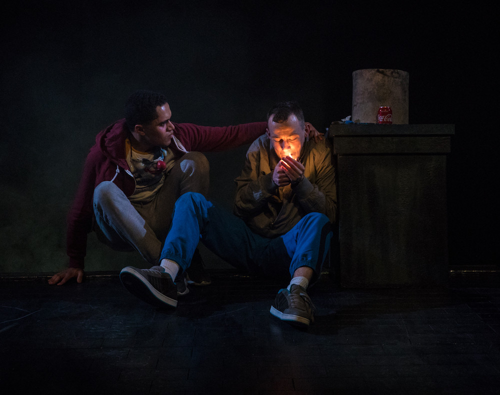 L-R. Josh Williams and Alan Mahon in If We Got Some More Cocaine I Could Show You How I Love You. Photo by Keith Dixon