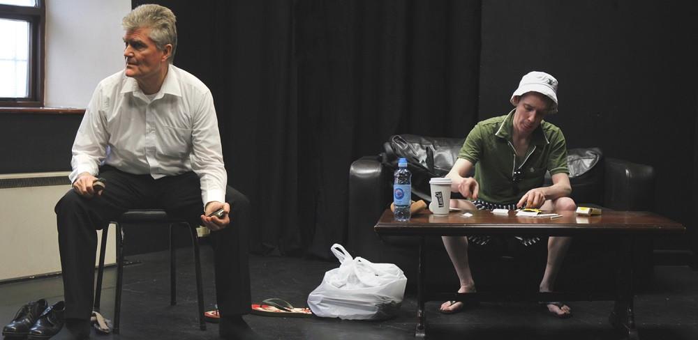 Padraic McGinley and Barry McBrien in Strange Fruit. Photo by Momentum Acting Studio