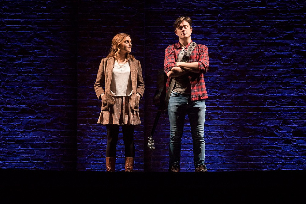 Niamh Perry and Brian Gilligan in Once. Photo by Pat Redmond