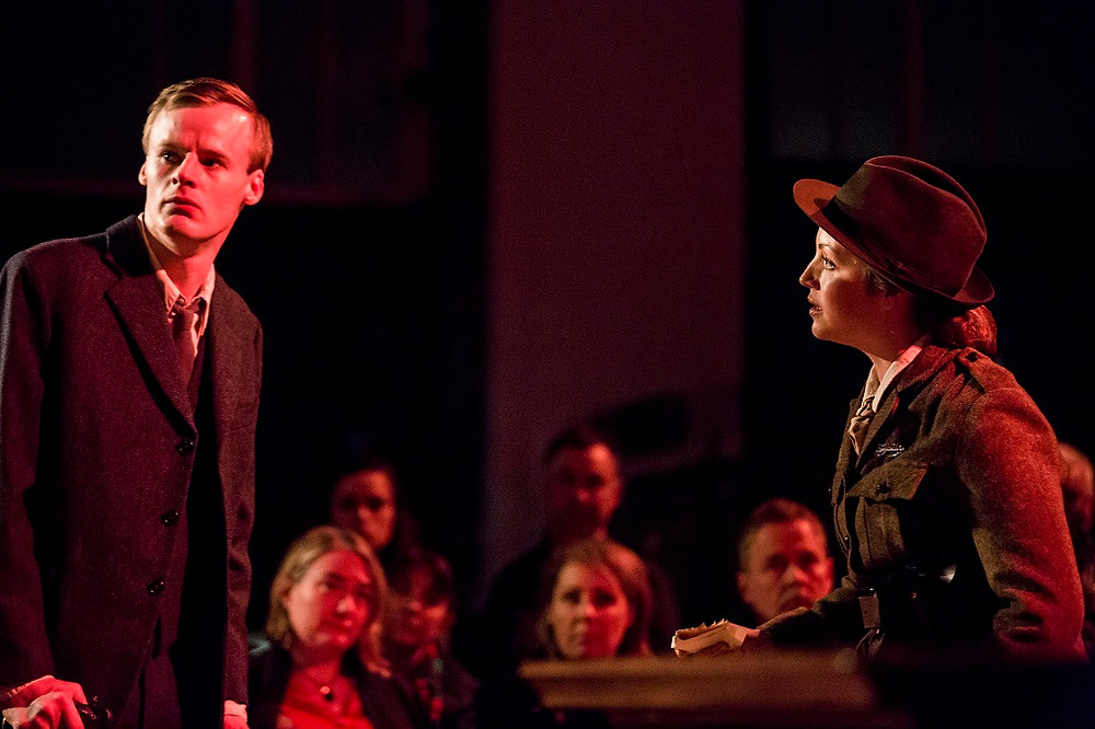 Manus Halligan and Liz Gitzgibbon in Colin Murphy's Inside The GPO. Photo by Pat Redmond