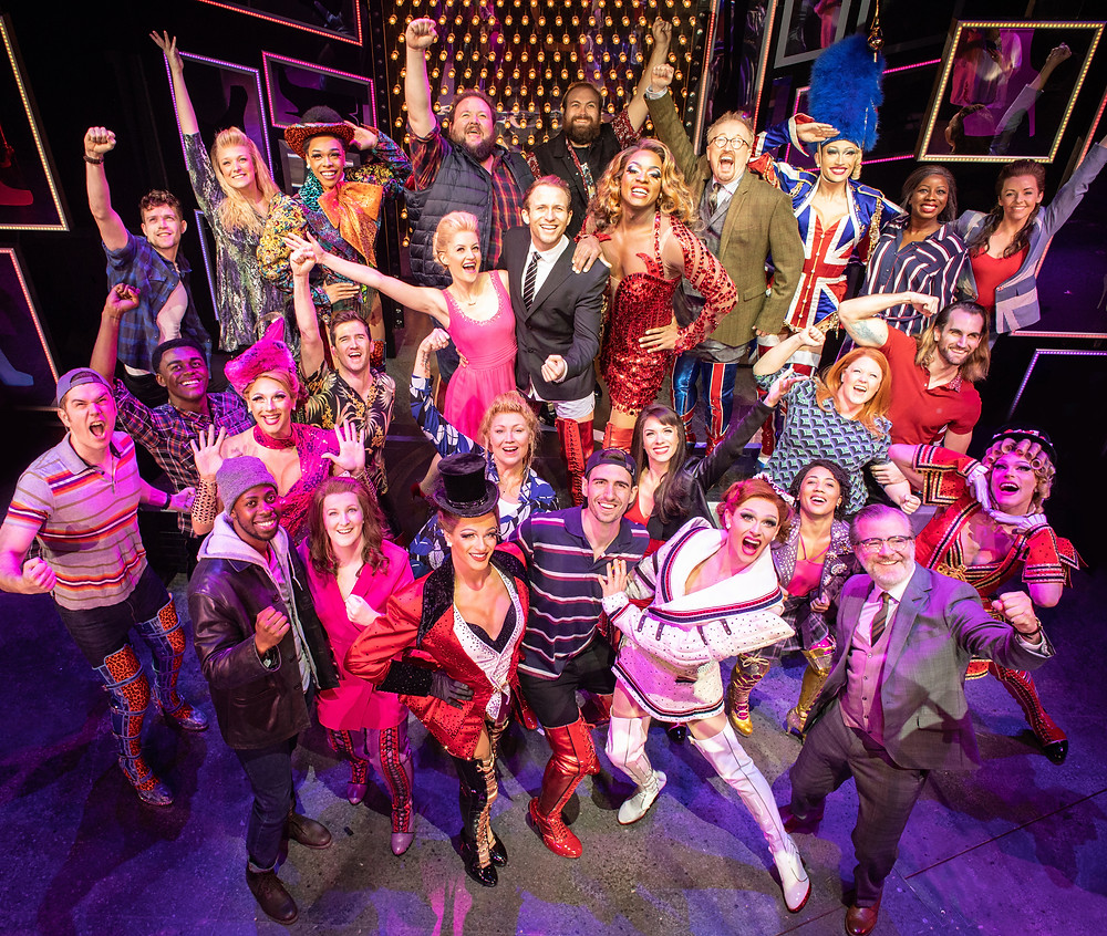 The cast of Kinky Boots: Photo Helen Maybanks