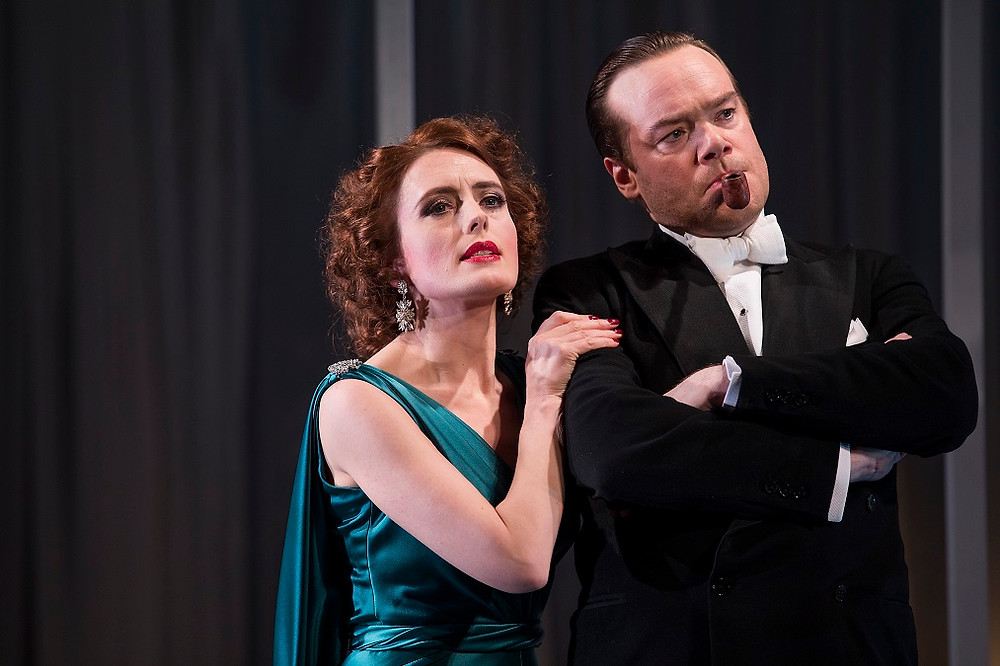 Rebecca O'Mara and Peter Gaynor in Private Lives. Photo by Pat Redmond