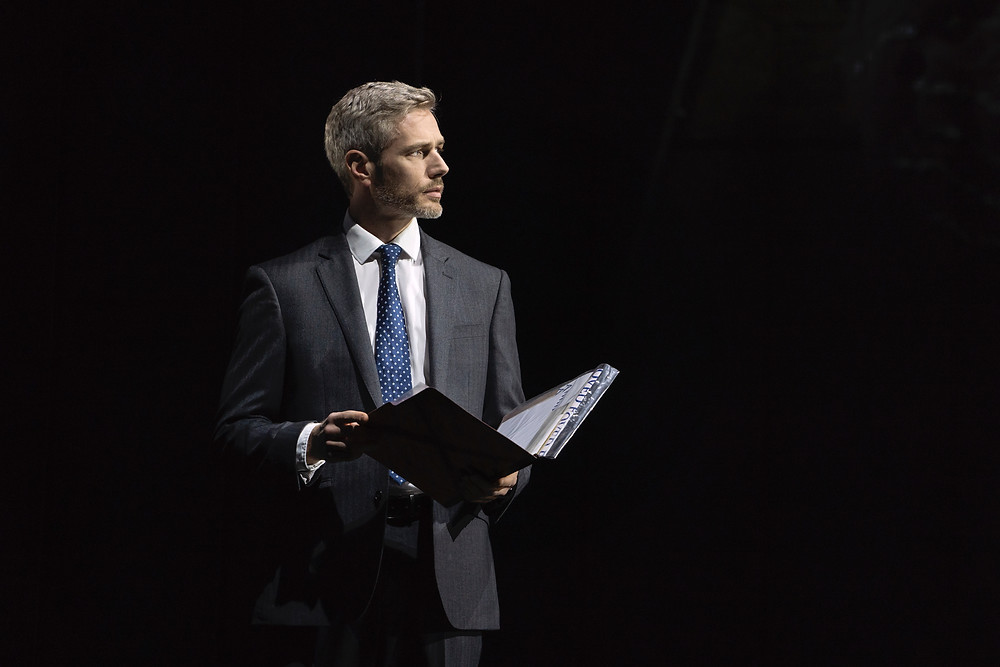 Benoît Maréchal in The Bodyguard. Photo by Paul Coltas