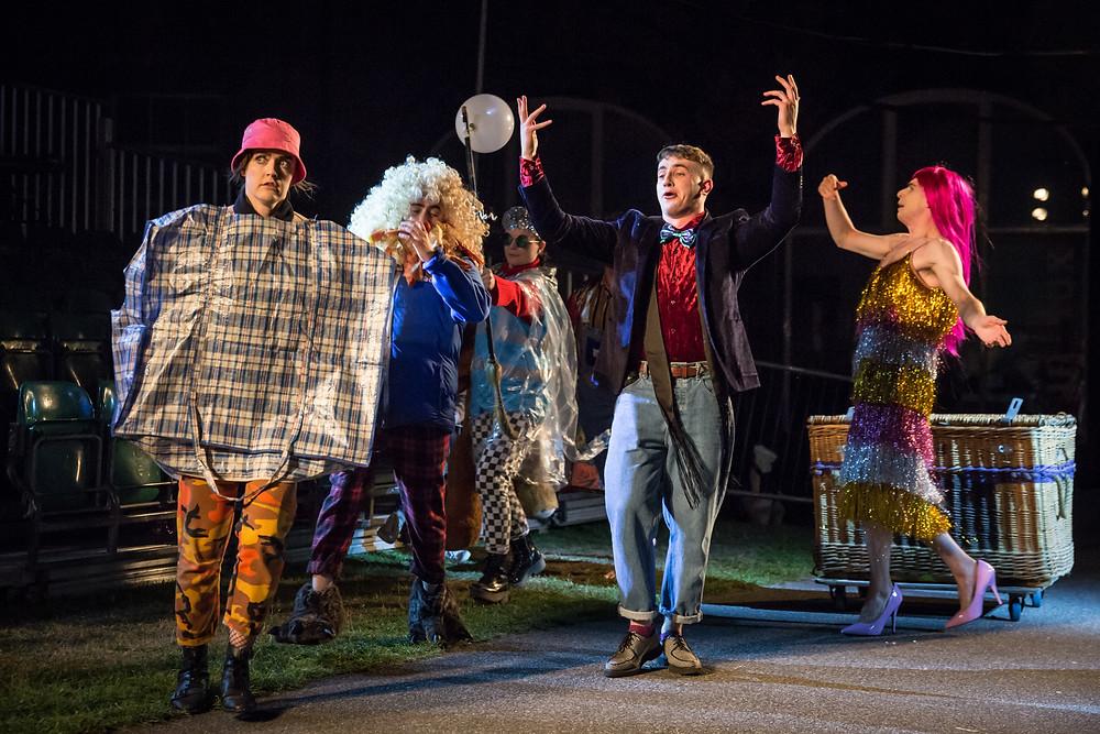 Aoibheann McCann, Kieran Roche, Martha Breen, Paul Mescal, Peter Corboy in A Midsummer Night's Dream. Photo by Ste Murray
