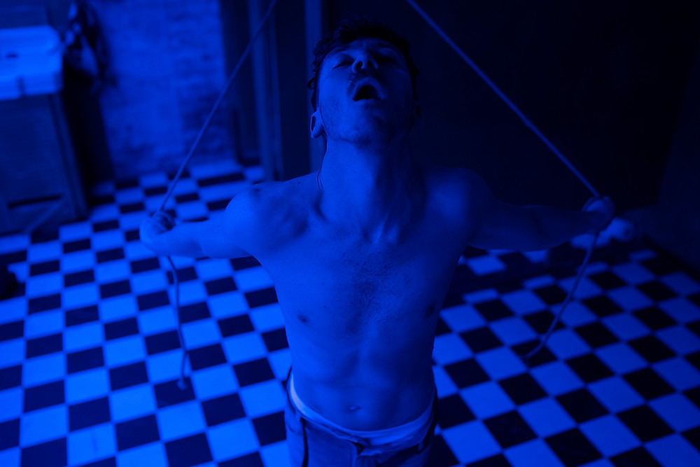 Faultline, an ANU and Gate Theatre Co-Production. Image by Pat Redmond. Performer Stephen Quinn.
