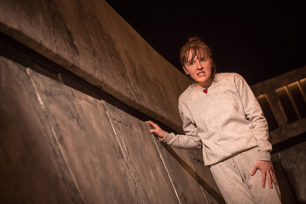 Katie Honan in 'Dark Vanilla Jungle', part of 'The Ridleys'; Theatre Upstairs in association with the Abbey Theatre; photo credit Ste Murray.