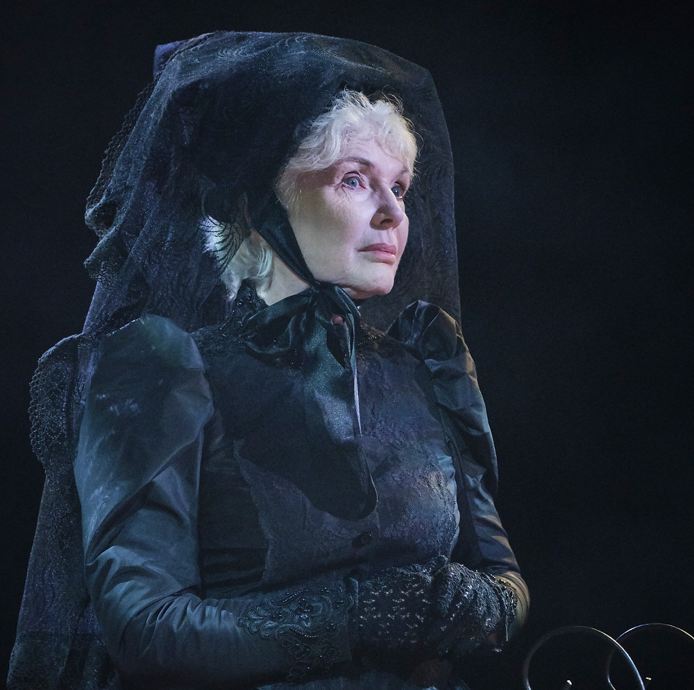 Fionnula Flanagan as the Ghost of Christmas Past in A Christmas Carol by Charles Dickens in a new version by Jack Thorne. Now at the Gate Theatre Dublin until 18 January. Photo by Ros Kavanagh.