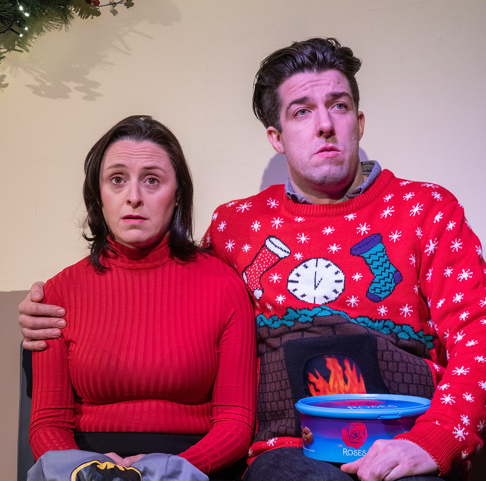 Mary Murray and Edwin Mullane in Gary Duggan's A Christmas Matter as part of The Corps Ensemble's Christmas Craicers. Image by Kristof Moscicki