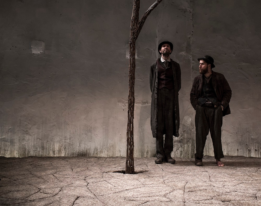 Marty Rea and Aaron Monaghan as Vladimir and Estragon in Waiting For Godot. Photo by Matthew Thompson
