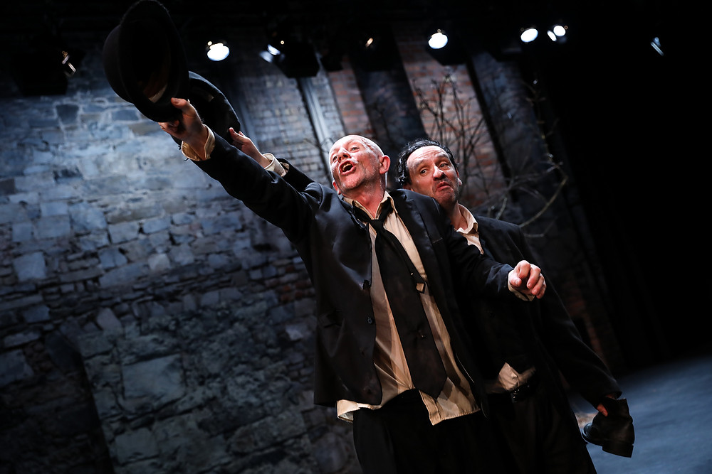 Charlie Hughes and Donal Courtney in Waiting For Godot. Image by Tom Maher.
