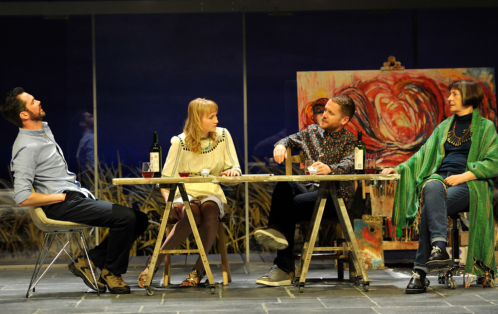 Marty Rea, Rae Gray, Ian-Lloyd Anderson, Jane Brennan. Druid and Gate Theatre. The Beacon. Photo credit, Robbie Jack