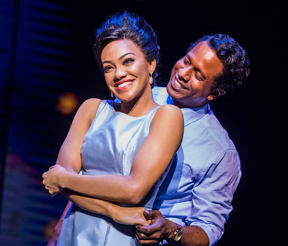 Karis Anderson as Diana Ross and Edward Baruwa as  Bewrry Gordy in Motown: The Musical. Photo Tristram Kenton