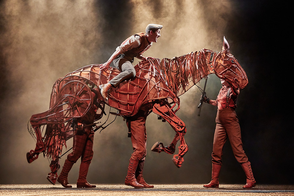 Scott Miller, Rianna Ash, Alex Hooper, Mark Matthews. War Horse 2019. Photo Brinkhoff & Mogenburg