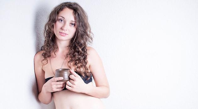 Full breast and vagina