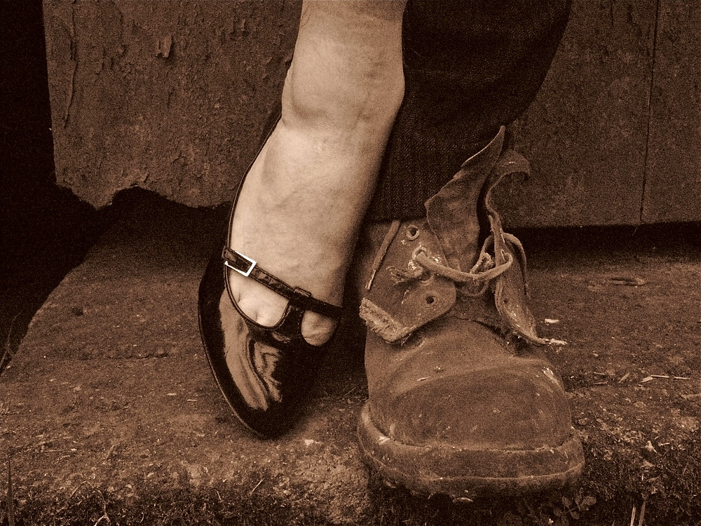 The Man in the Woman's Shoes. Photo uncredited