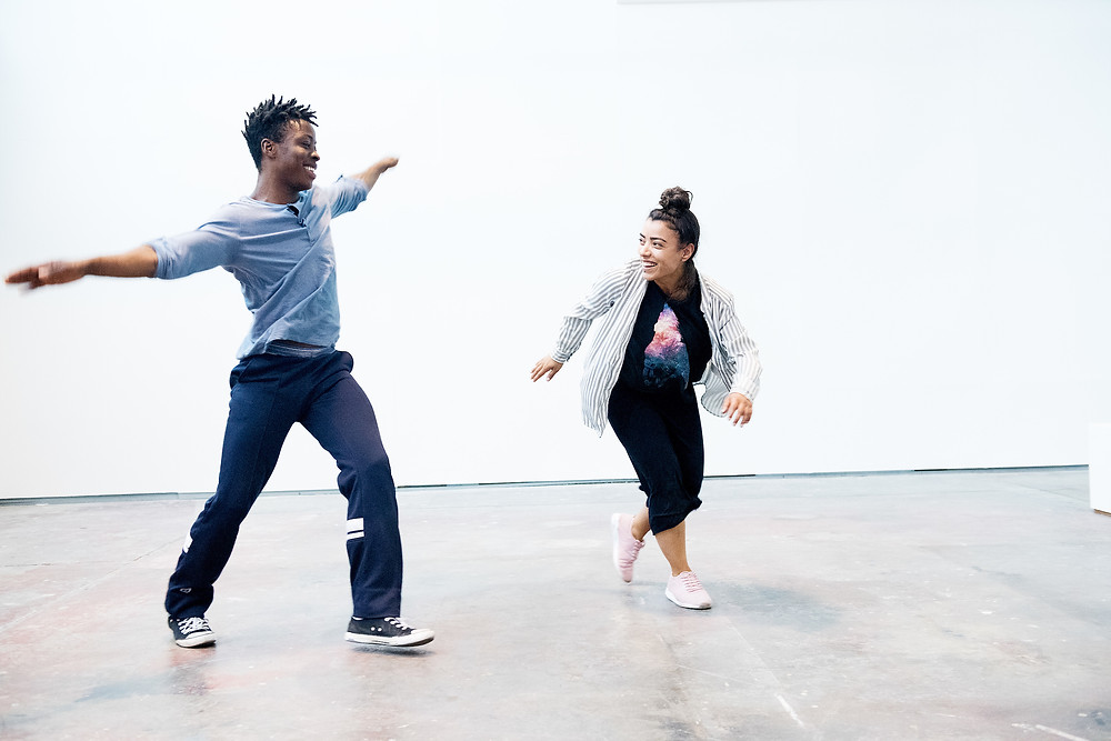 Mufutau Yusuf and Salma Ataya Pic in Cloud Study by John Scott. Image by Andrew Downes