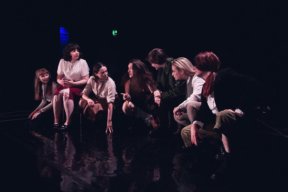 The Roaring Banshees. L-R Laura Brady, Amy Dunne, Clodagh MD, Aoife Spratt, Nessa Matthews, Ali Fox, Aine Ni Laoghaire. Image by Sean Clancy