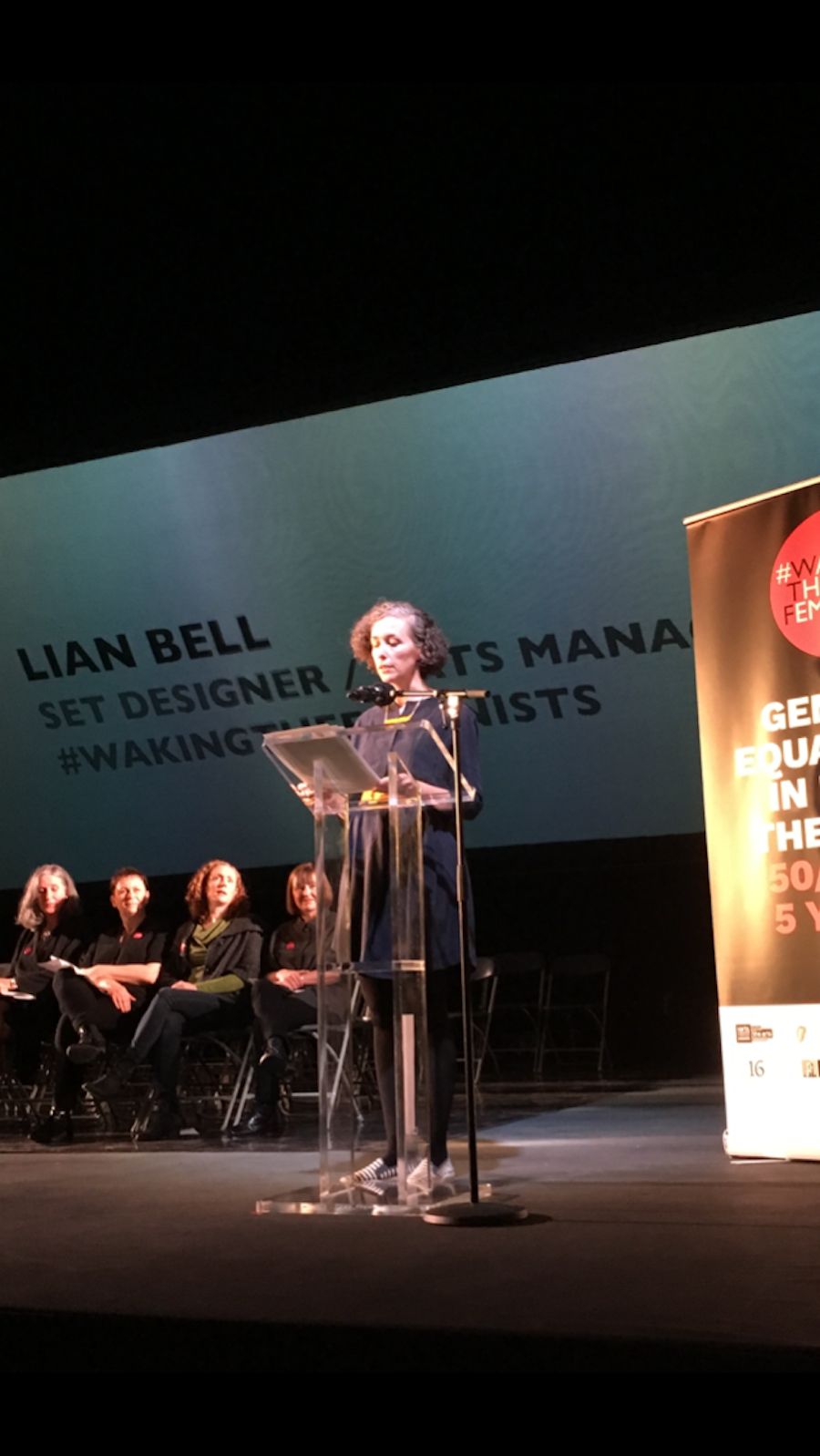 Liam Bell speaking at #wakingthefeminists