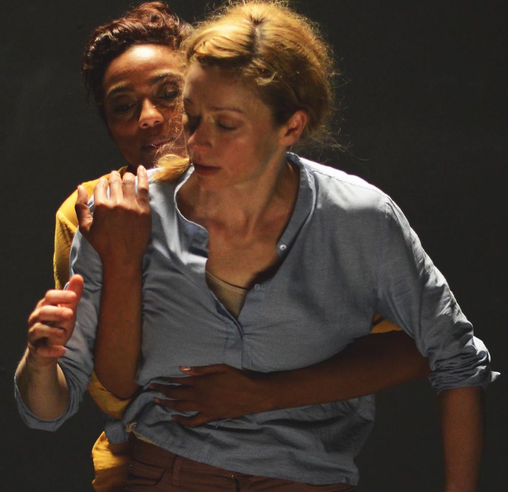 Justine Cooper and Sarah Cerneaux in Liz Roche's Wrongheaded. Photo by Ewa Figaszewska