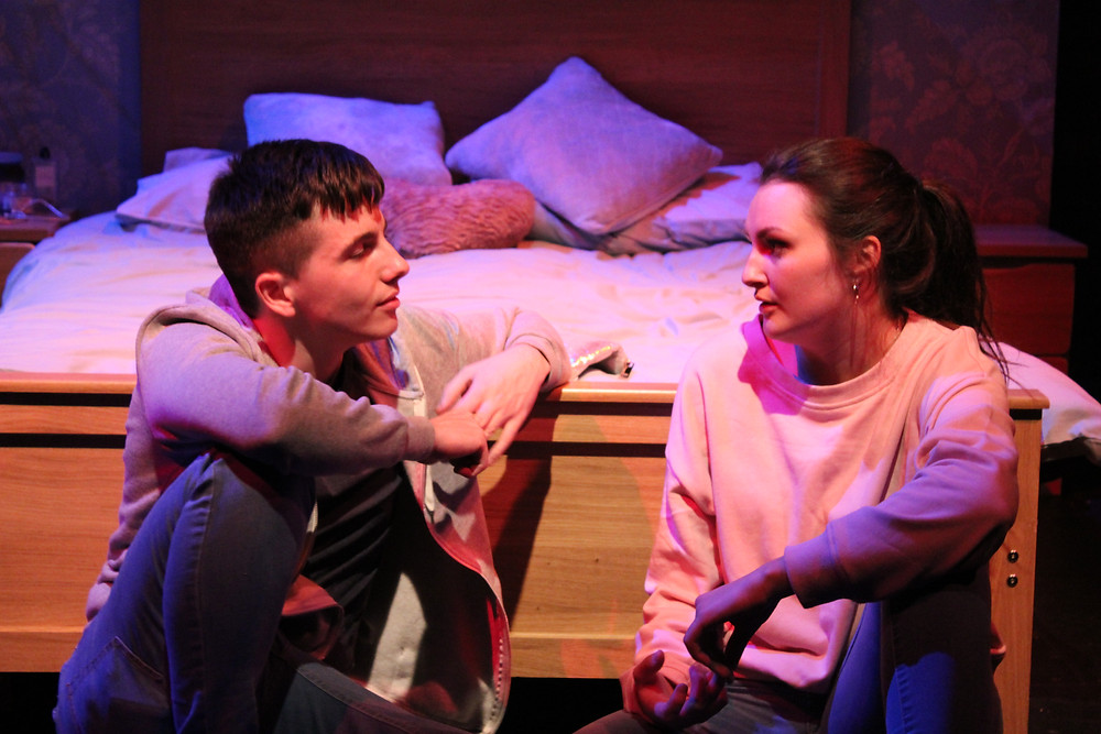 Adam O'Brien and Lorna Costello in HashtagRelationshipGoalz. Photo by Brian Loughney