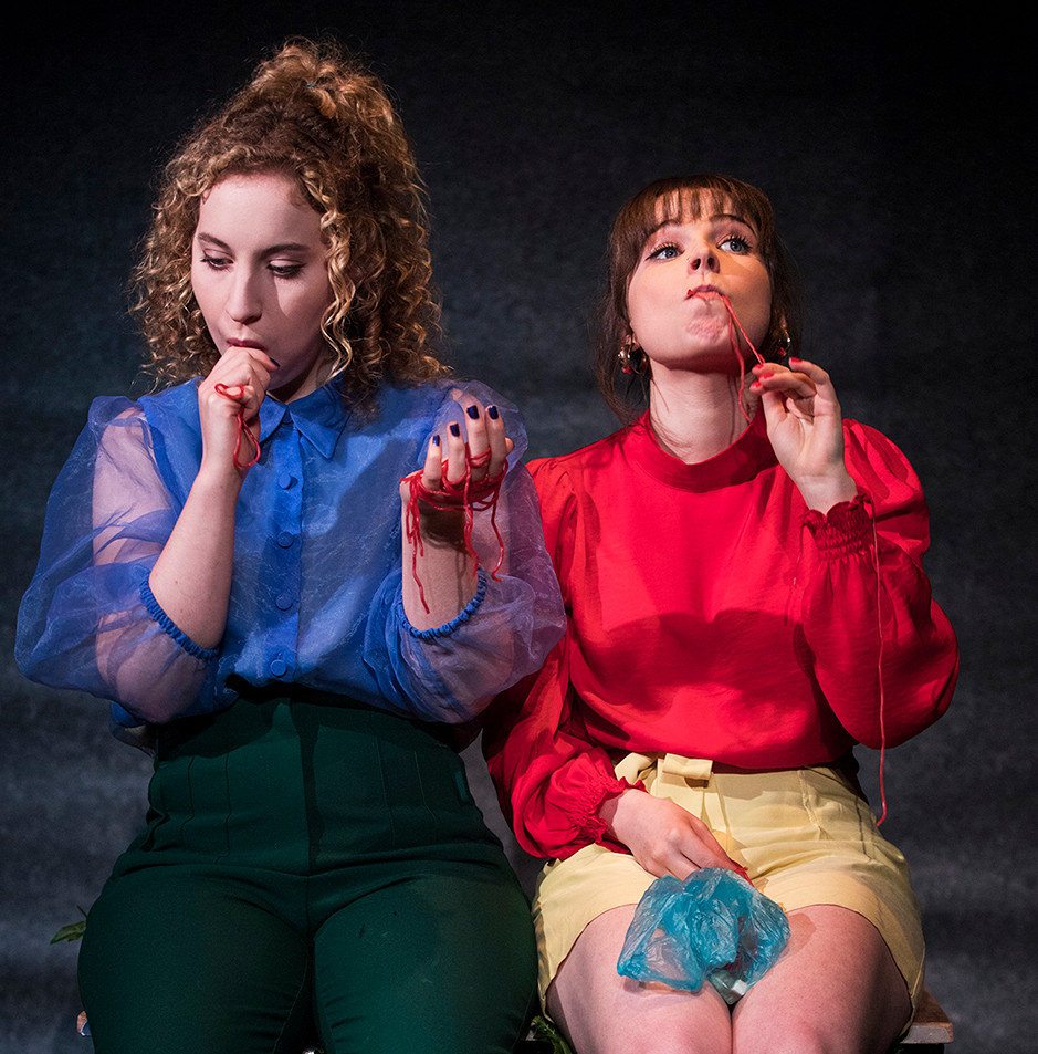 Laoise Murray and Heather O'Sullivan in b(l)oom by William Dunleavy. Image by Al Craig.