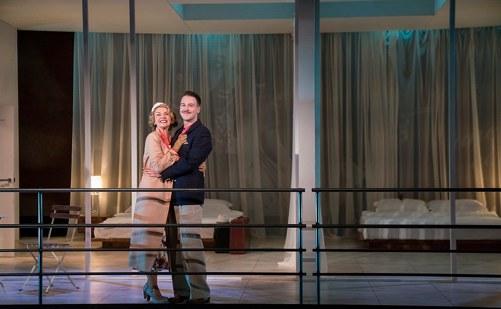 Lorna Quinn and Shane O'Reilly in Private Lives. Photo by Pat Redmond