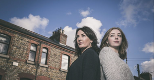 Ciara O'Callaghan and Emma Willis in Spotless. Image uncredited