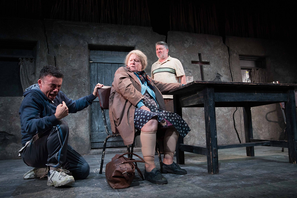 Jarlath Tivnan, Mary McDermottroe and Pat Shortt in A Skull in Connemara. Image by Darragh Kane