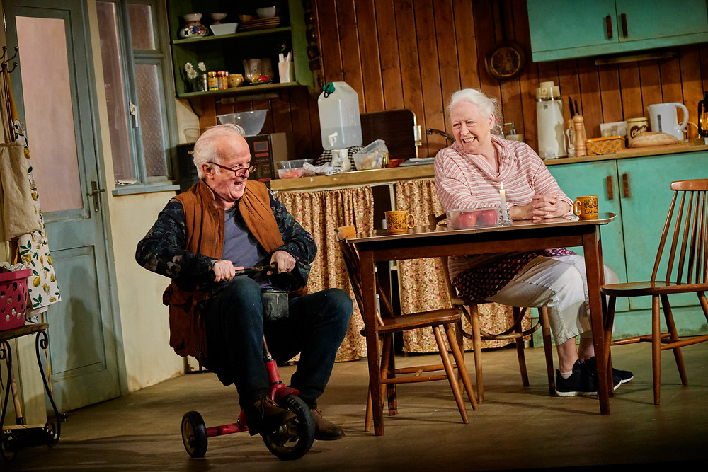 Seán McGinley and Marie Mullen in the Gate Theatre production of The Children by Lucy Kirkwood. Photograph by Ros Kavanagh.