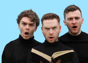 Fionn Foley, Ronan Carey and Michael-David McKernan in Bolstoff. Image by Wicker Socks