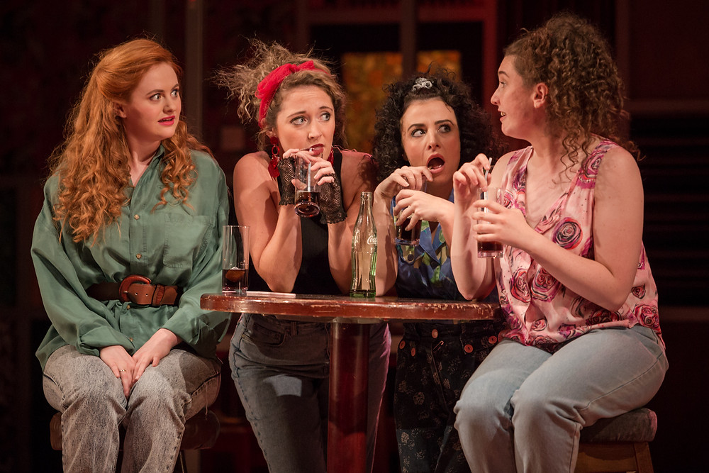 Kate Gilmore, Niamh Branigan, Amilia Stewart and Hazel Clifford in The Snapper. Photo by Ste Murray