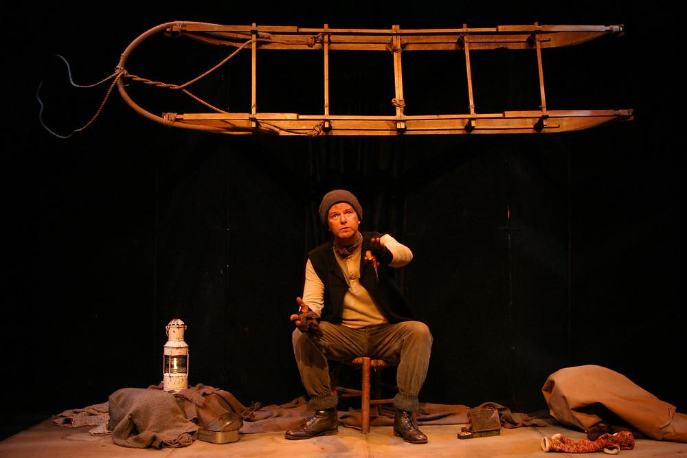 Aidan Dooley as Tom Crean in Tom Crean Antarctic Explorer. Image by Futoshi Sakauchi