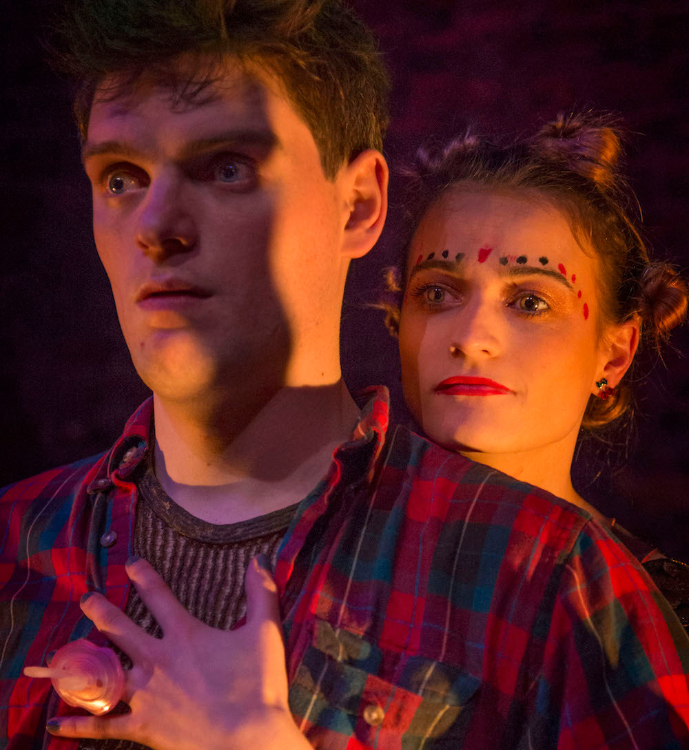 Ethan Dillon and Toni O'Rourke in Disco Pigs. Photo by Declan Brennan
