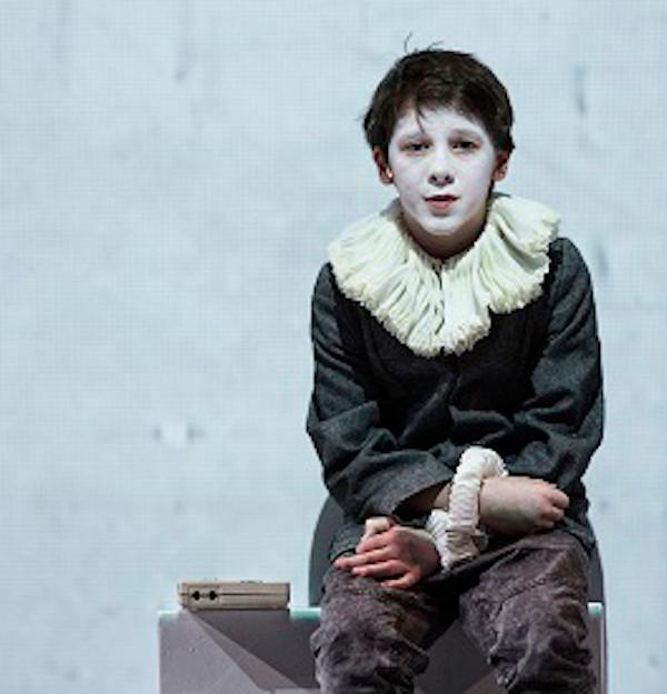Ollie West as Hamlet. Photo by Gianmarco Bresadola
