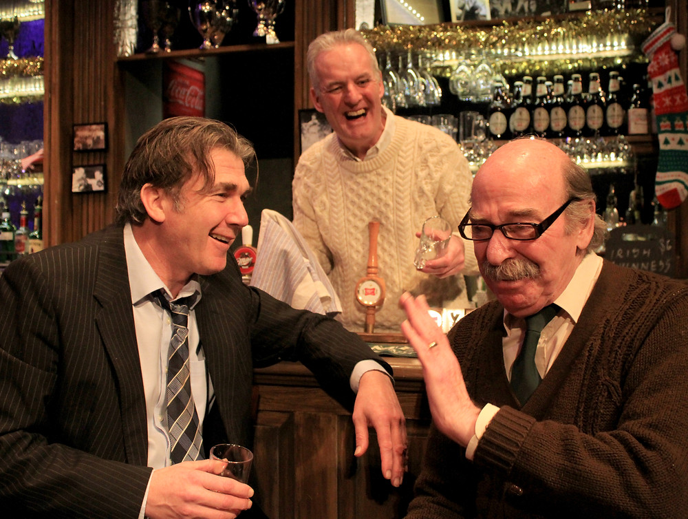 Ian kelsey, Michael Lunney and Denis Lill in The Verdict. Image uncredited.