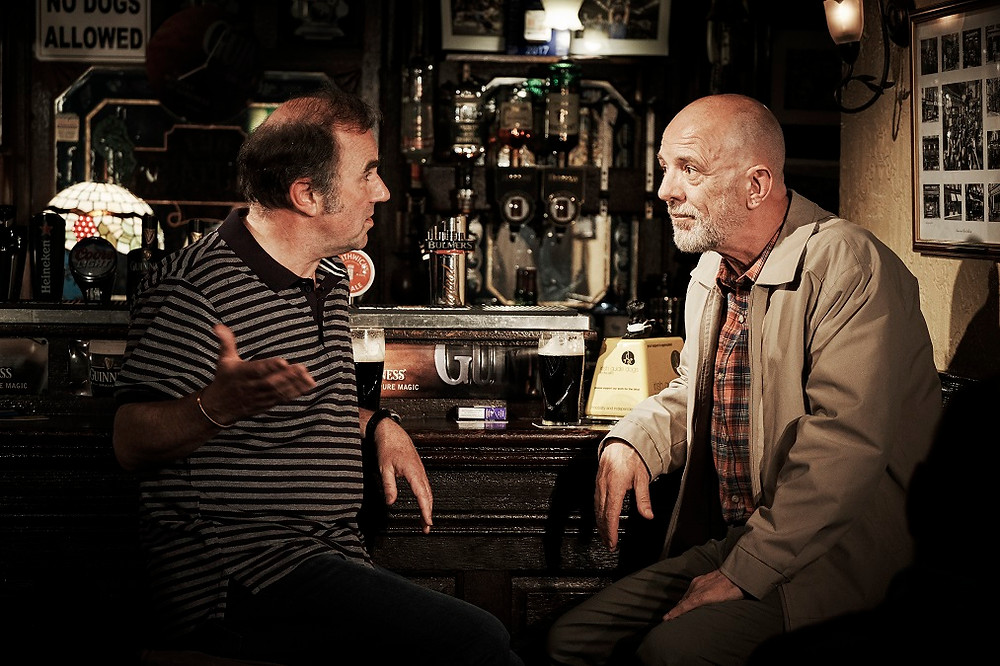 Lorcan Cranitch and Liam Carney in Two Pints. Photo by Ros Kavanagh