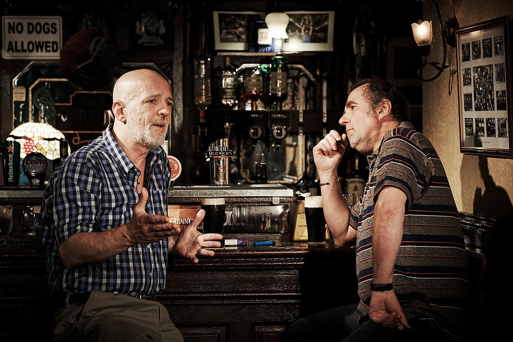 Liam Carney and Lorcan Cranitch in Two Pints. Photo by Ros Kavanagh