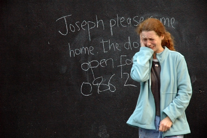 Fionnaula Murphy in Lament for Joseph by Jody O'Neill as part of Whereabouts. Photo by Fishamble
