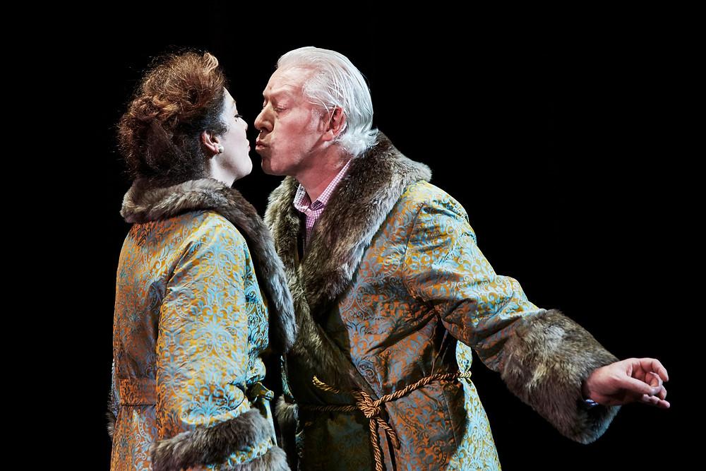 Derbhle Crotty (Princess Sherbatsky) and Nick Dunning (Prince Sherbatsky). Photography by Ros Kavanagh