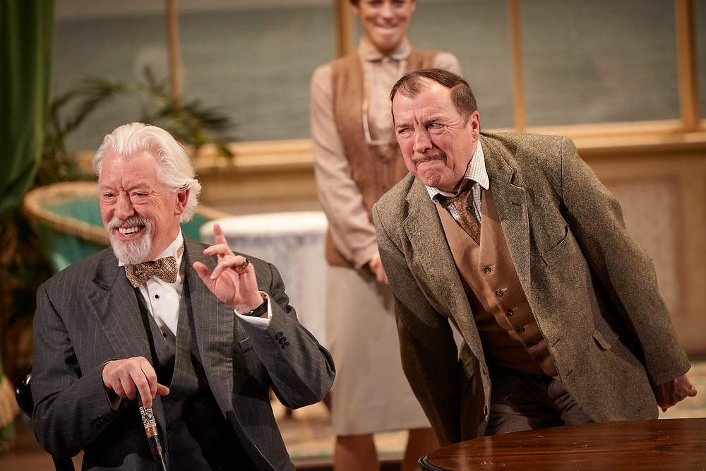 Nick Dunning and Mark O'Regan in Drama at Inish at the Abbey Theatre; an Abbey Theatre production, written by Lennox Robinson and directed by Cal McCrystal; image by Ros Kavanagh.