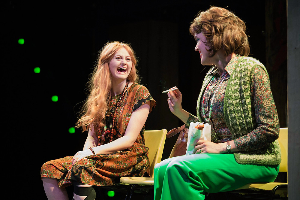 Kate Gilmore and Aoibhéann McCann in Assassins at the Gate Theatre. Photo Credit: Agata Stoinska