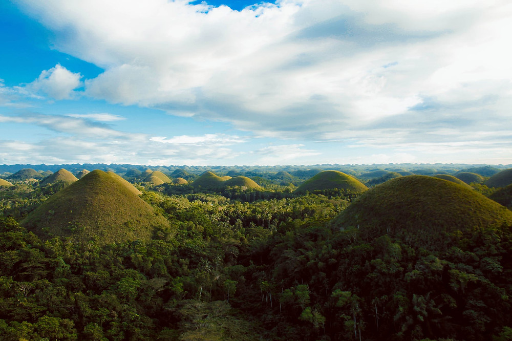 The Chocolate Hills can be found in Bohol Philippines