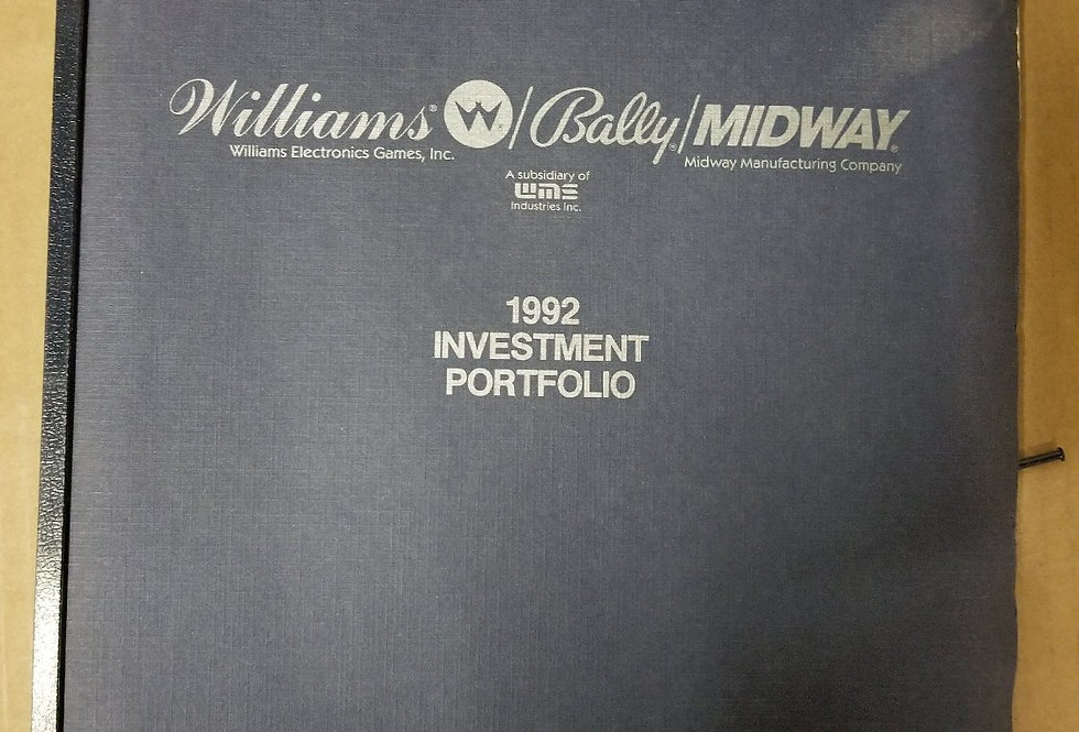 Williams Bally  1992 Investment portfolio