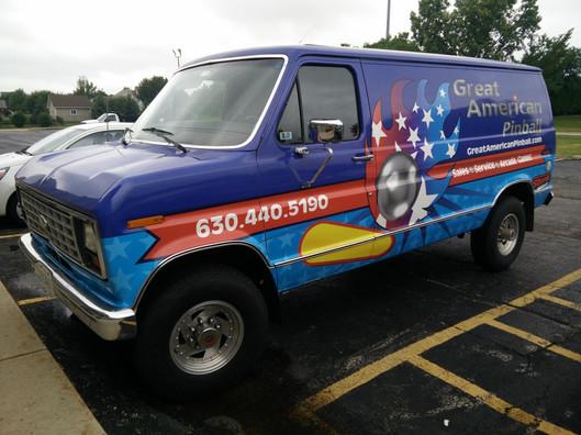 Great American Pinball Van