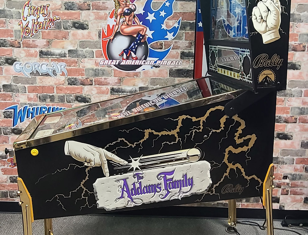 Addams Family Gold pinball machine Le#10