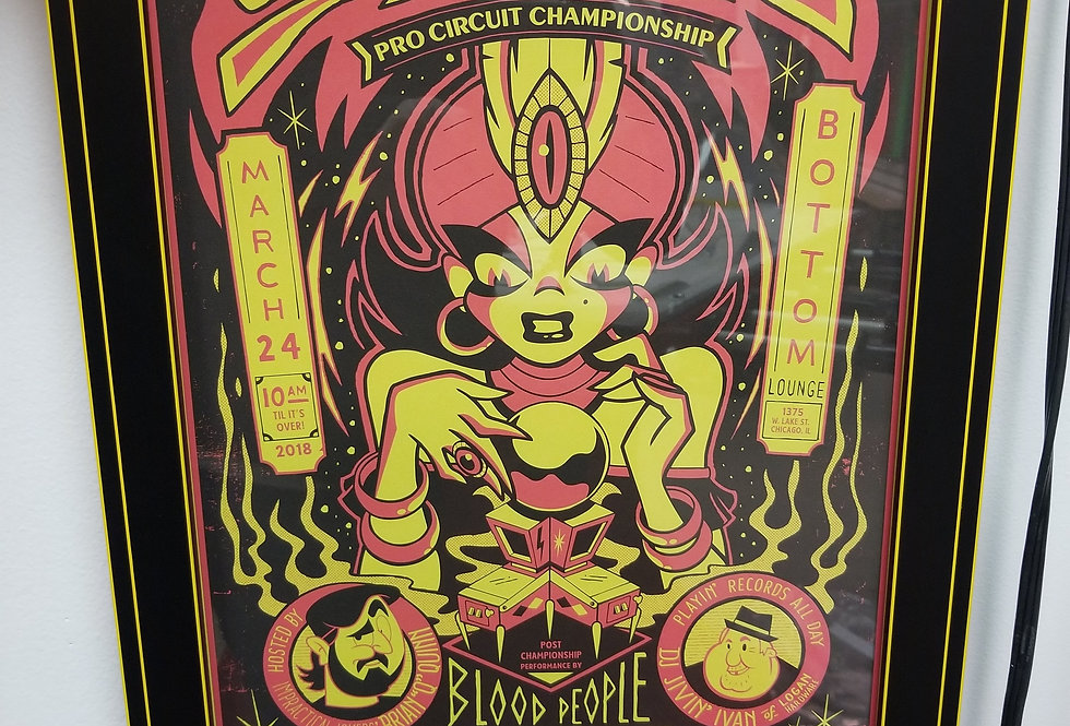 Stern Pro circuit pinball poster